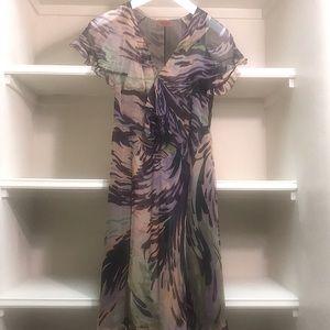 A sheer Italian style elegant silk dress